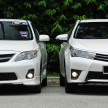 Old_new_2014_Toyota_Corolla_Altis_compared_ 005