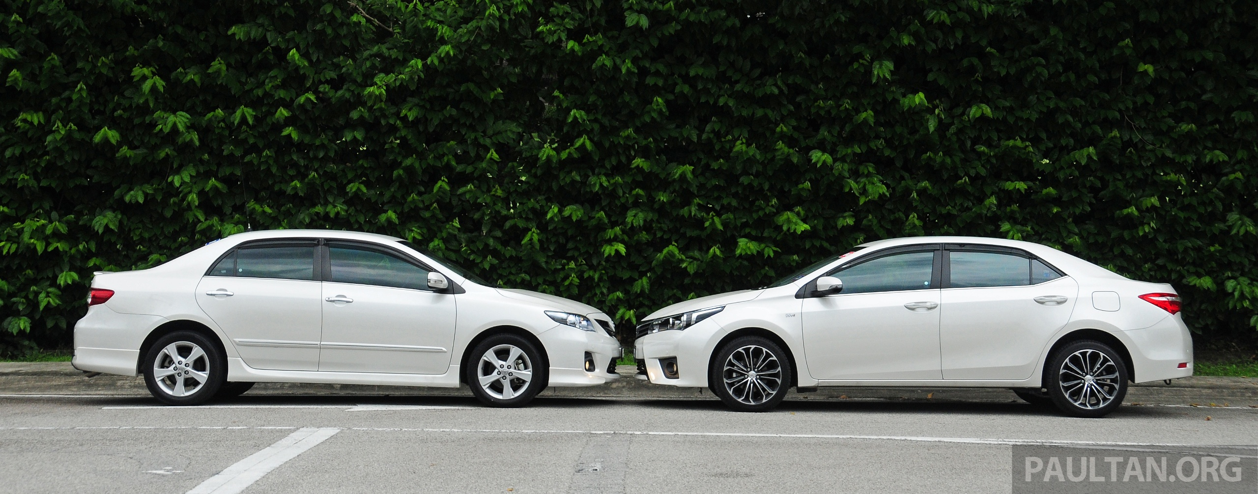 Gallery old and new toyota corolla altis compared image 222552