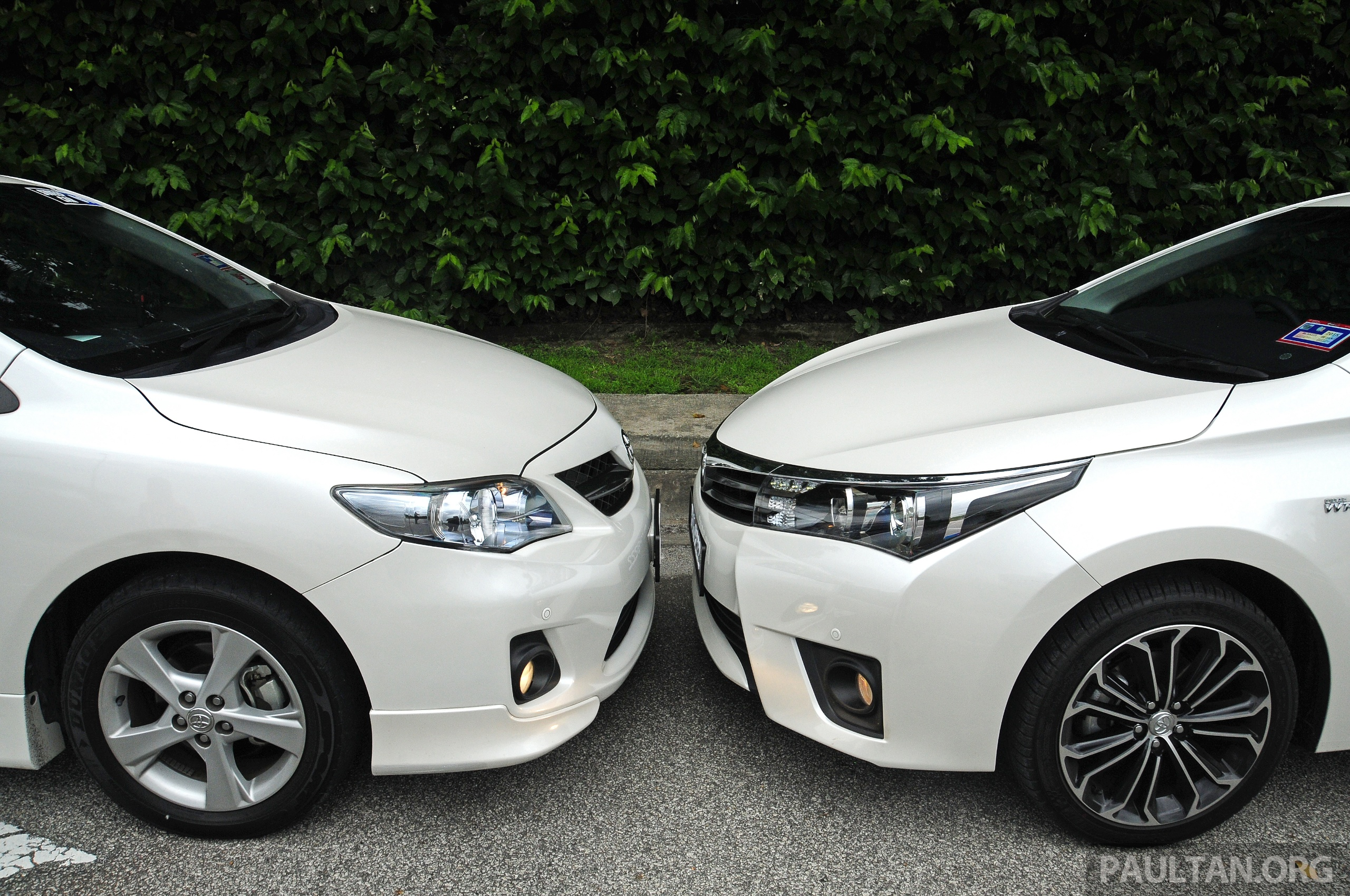 gallery old and new toyota corolla altis compared. Black Bedroom Furniture Sets. Home Design Ideas