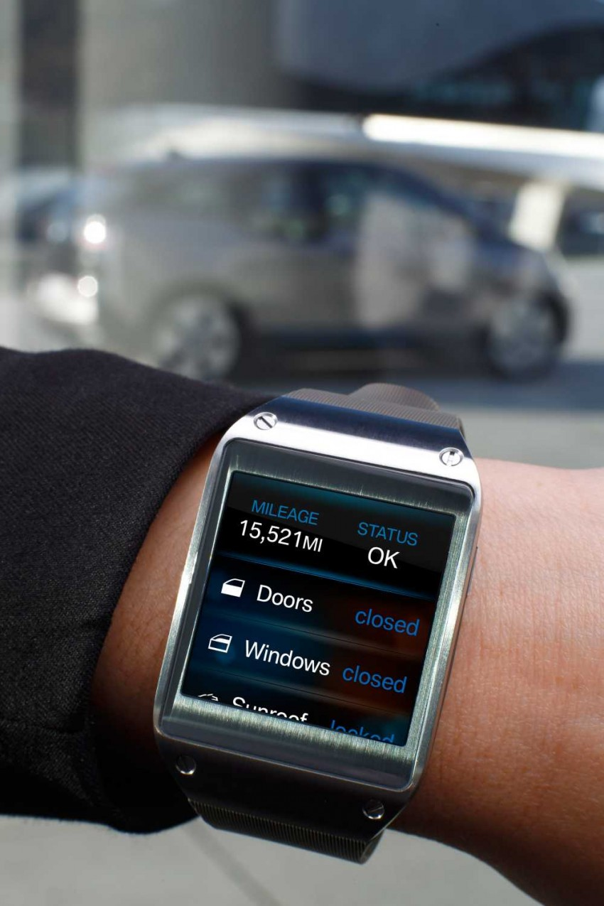 BMW i Remote App – now offering BMW i3 info through the Samsung Galaxy Gear smartwatch Image #221042