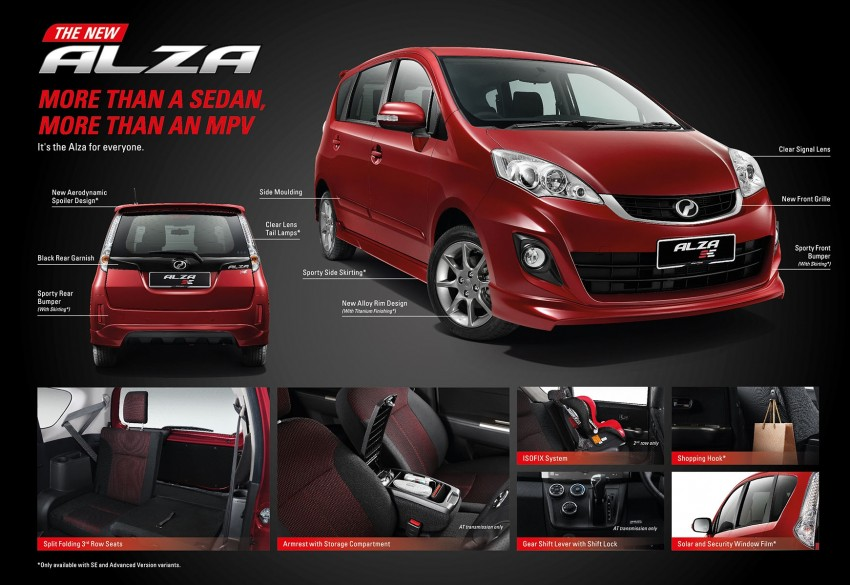 Perodua Alza facelift officially revealed, from RM52,400 Image #221545