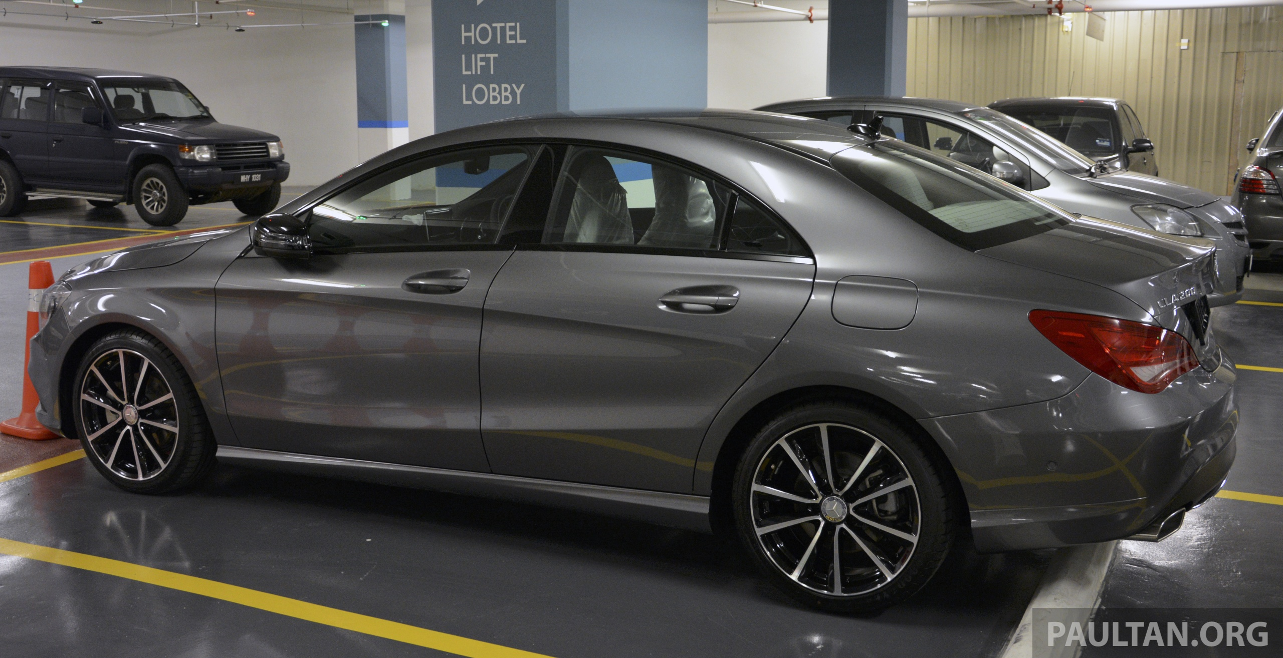 spied mercedes benz cla 200 a local spec unit. Black Bedroom Furniture Sets. Home Design Ideas