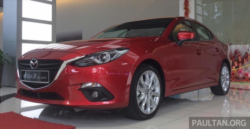 GALLERY: 2014 Mazda 3 CBU in Glenmarie showroom Image #224342