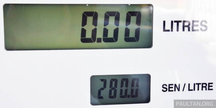 RON 97 petrol price goes up 5 sen to RM2.80 per litre Image #220782