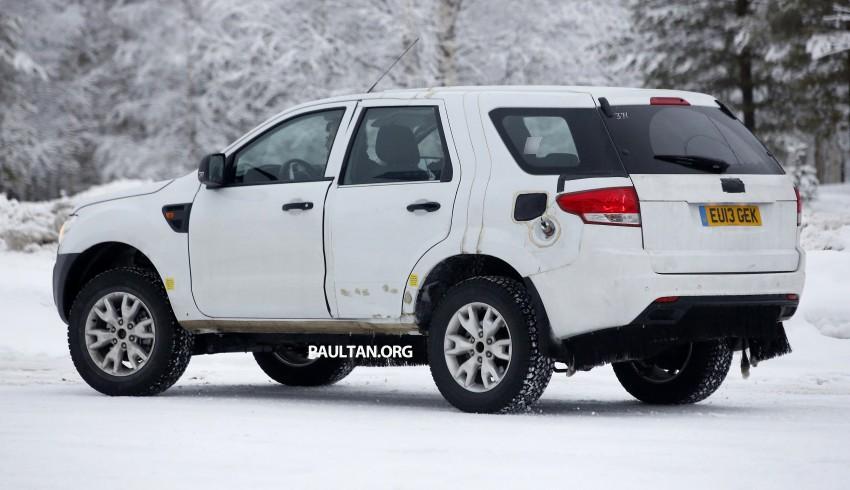 SPYSHOTS: Ford Everest – next-gen on winter trials Image #228679