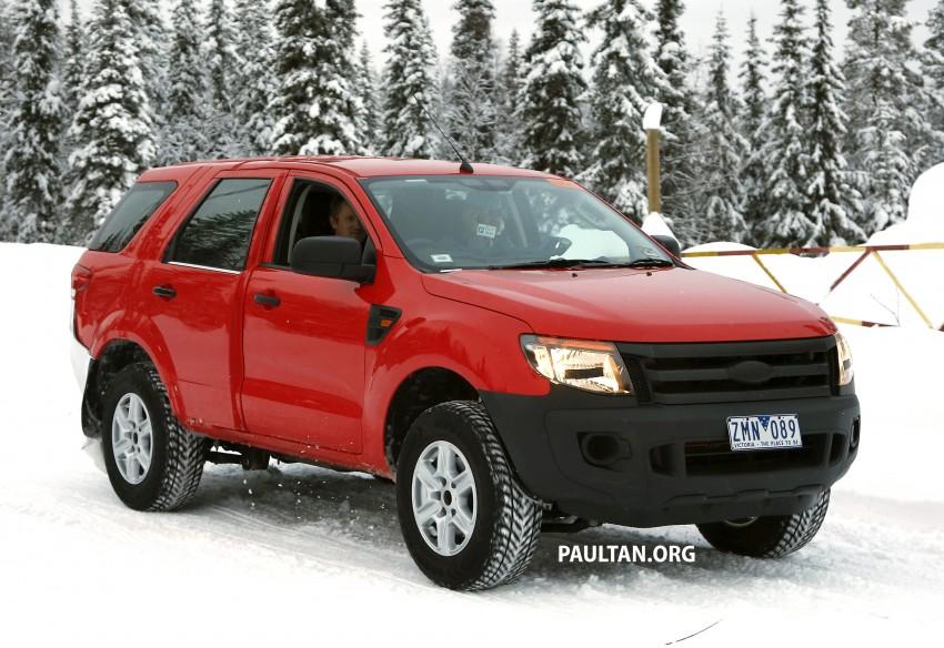 SPYSHOTS: Ford Everest – next-gen on winter trials Image #229731