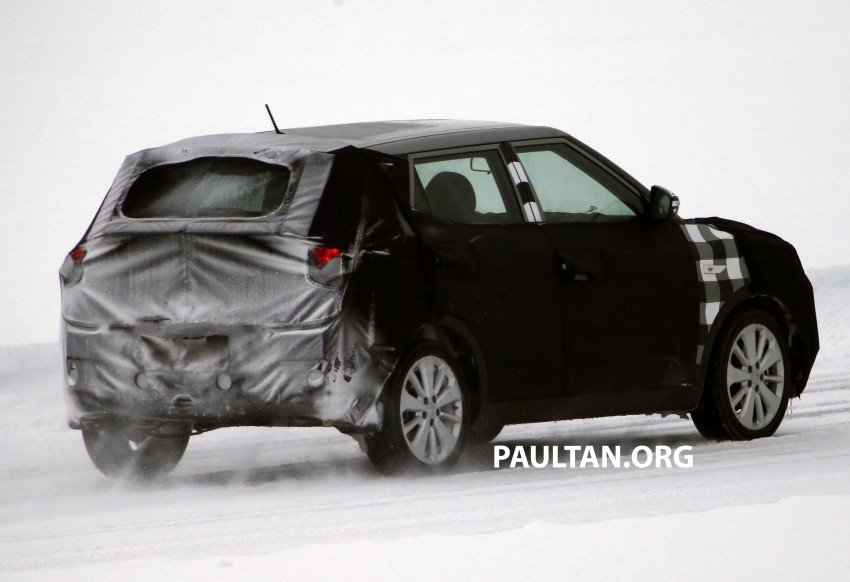 SPIED: SsangYong X100 B-segment crossover spotted Image #229480