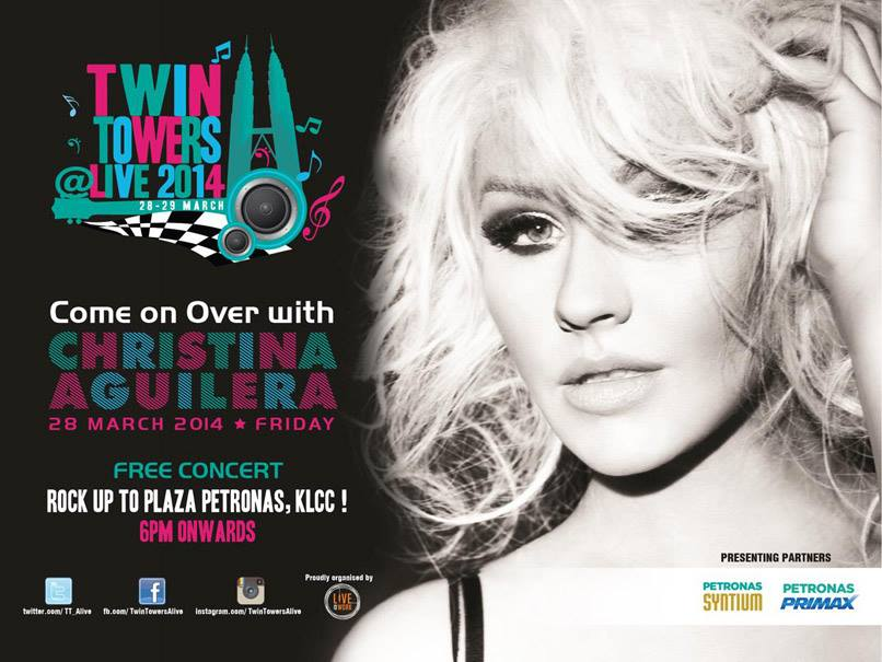 Twin Towers @ Live 2014 – Christina Aguilera, Rain and Craig David to star in free KLCC concert Image #229074
