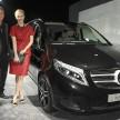 Weltpremiere der neuen Mercedes- Benz V-Klasse in der Eventarena Olympiapark M¸nchen 30.01.2014