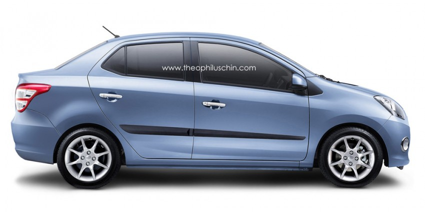 Perodua A-segment sedan concept – another take Image #229431