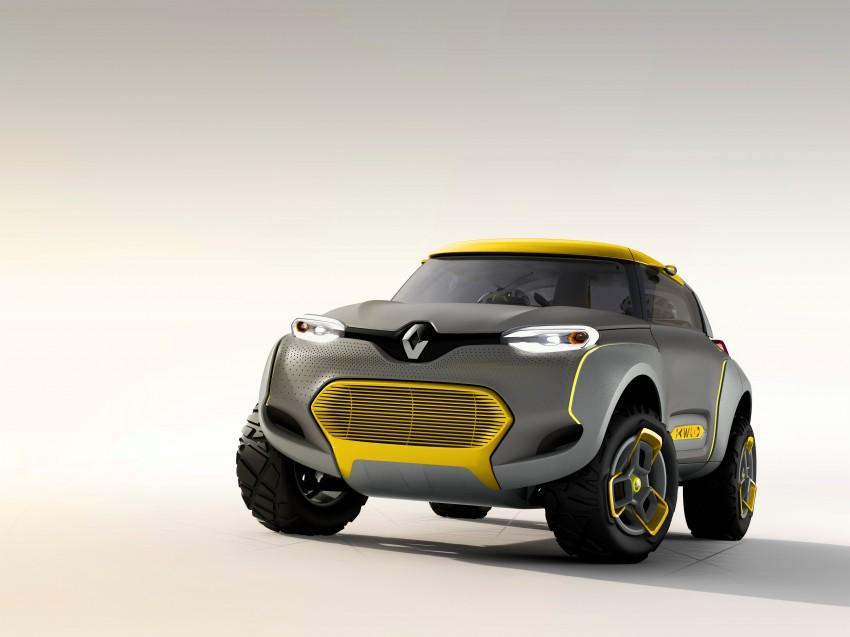 Renault Kwid concept debuts with 'Flying Companion' Image #226430