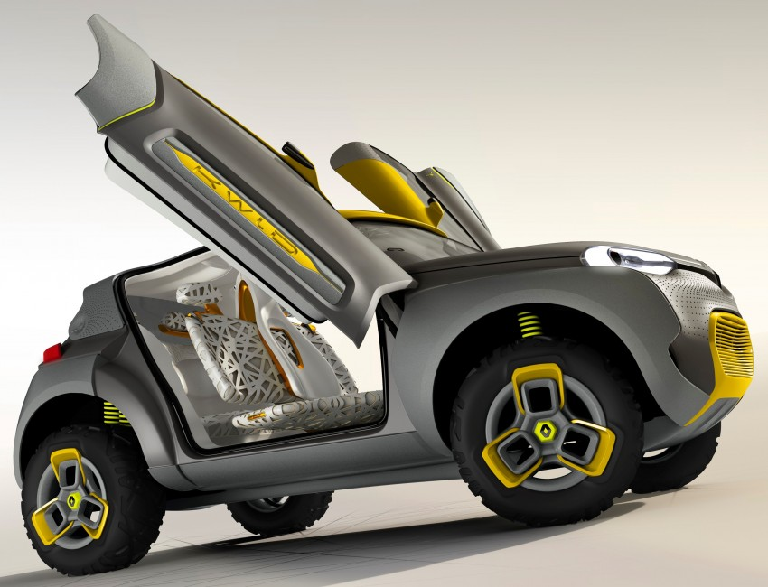 Renault Kwid concept debuts with 'Flying Companion' Image #226424