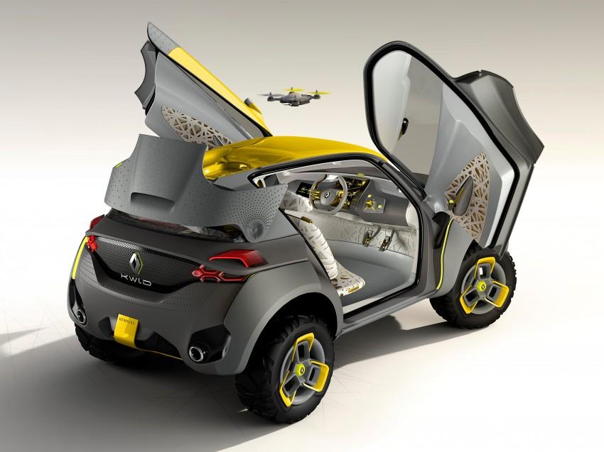 Renault Kwid concept debuts with 'Flying Companion' Image #226425