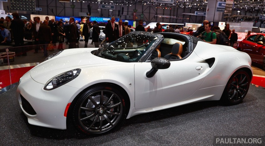 Alfa Romeo 4C Spider concept previews 2015 model Image #234008