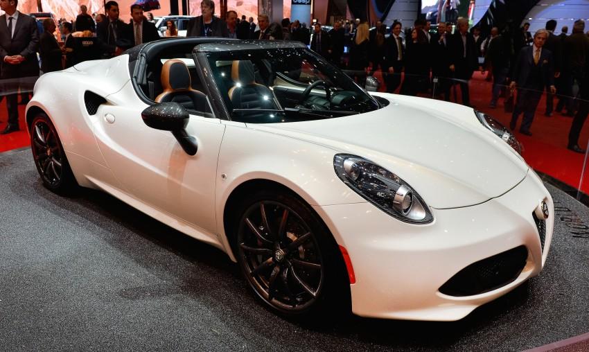 Alfa Romeo 4C Spider concept previews 2015 model Image #234013