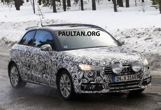 our euro spies have caught the facelifted audi a1 undergoing testing