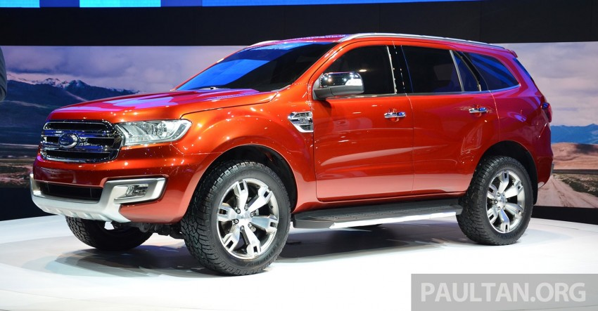 Ford Everest Concept unveiled at Bangkok Motor Show – production SUV will be built in Thailand Image #237037