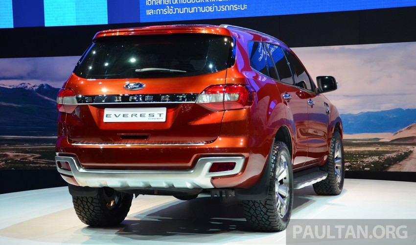 Ford Everest Concept unveiled at Bangkok Motor Show – production SUV will be built in Thailand Image #237043