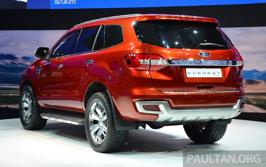 Ford Everest Concept unveiled at Bangkok Motor Show – production SUV will be built in Thailand Image #237023