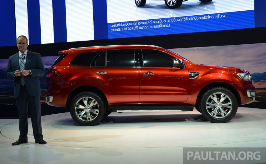 Ford Everest Concept unveiled at Bangkok Motor Show – production SUV will be built in Thailand Image #237027