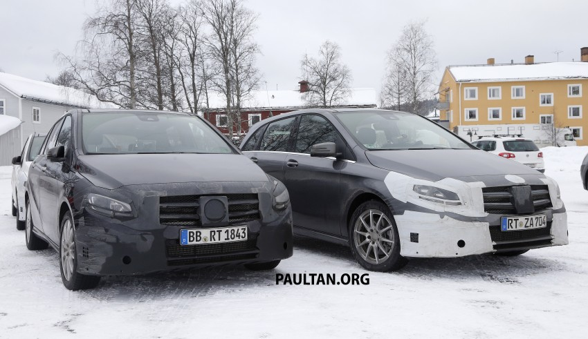 SPIED: Mercedes-Benz B-Class facelift in the snow Image #235149