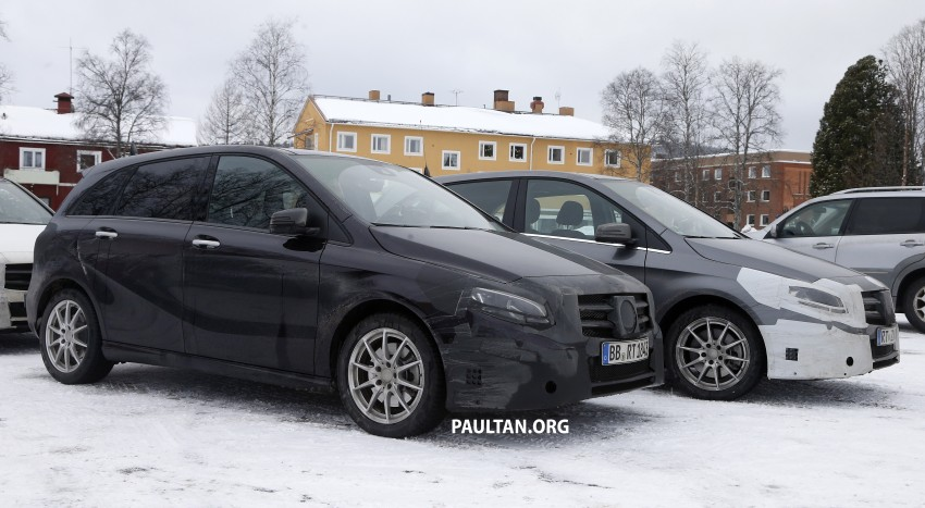 SPIED: Mercedes-Benz B-Class facelift in the snow Image #235147