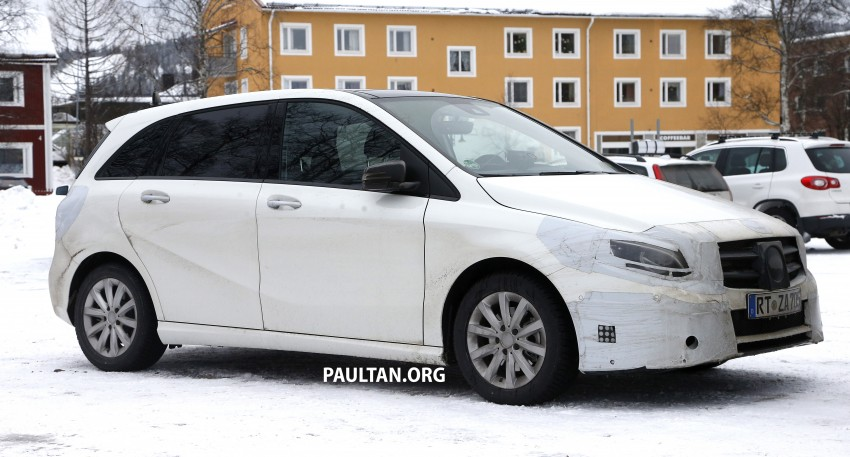 SPIED: Mercedes-Benz B-Class facelift in the snow Image #235146