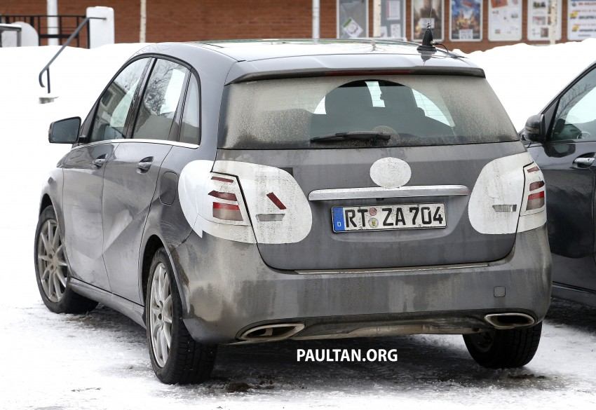 SPIED: Mercedes-Benz B-Class facelift in the snow Image #235143