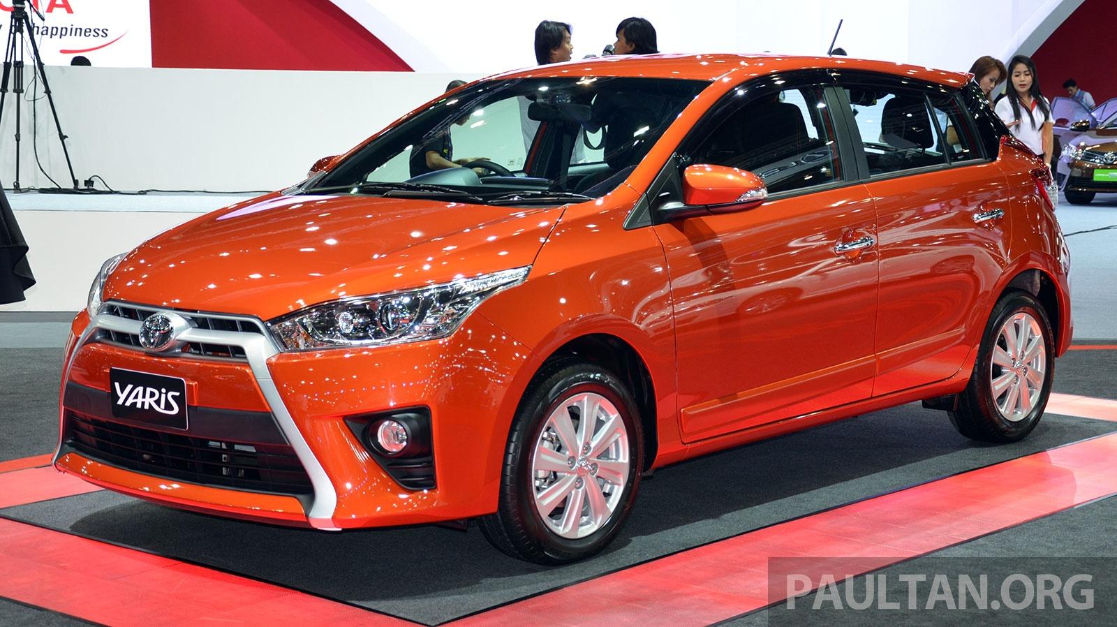 Bangkok 2014: Toyota Yaris 1.2L hatchback, Thai-spec Paul ...