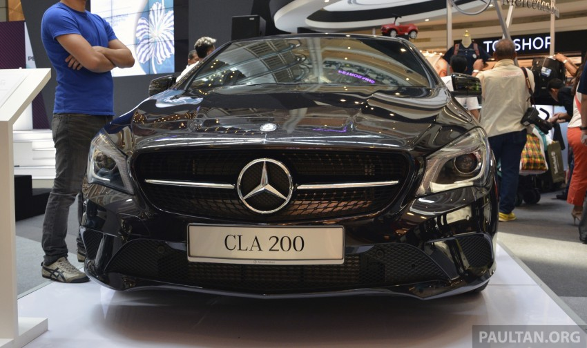Mercedes-Benz CLA 200 on display at Suria KLCC Image #236572