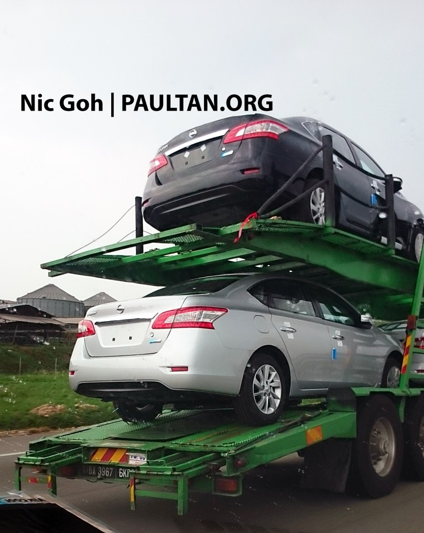 SPYSHOTS: A trailer load of the new Nissan Sylphy Image #238195
