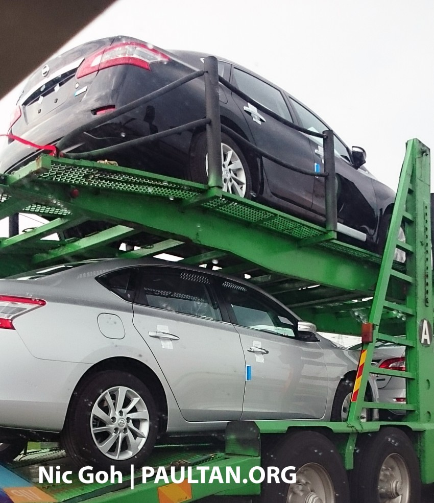 SPYSHOTS: A trailer load of the new Nissan Sylphy Image #238196