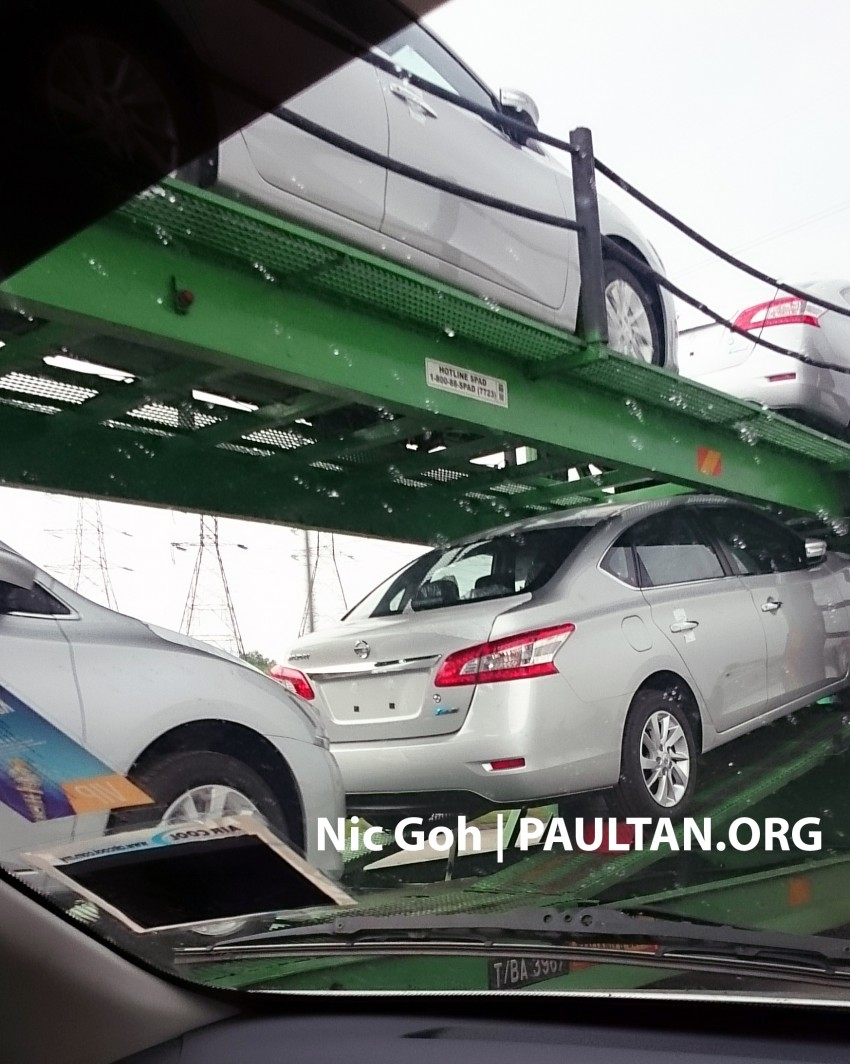 SPYSHOTS: A trailer load of the new Nissan Sylphy Image #238197
