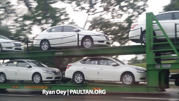SPYSHOTS: A trailer load of the new Nissan Sylphy Image #238561