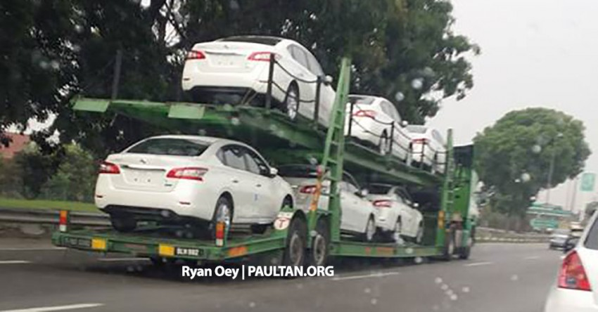 SPYSHOTS: A trailer load of the new Nissan Sylphy Image #238560