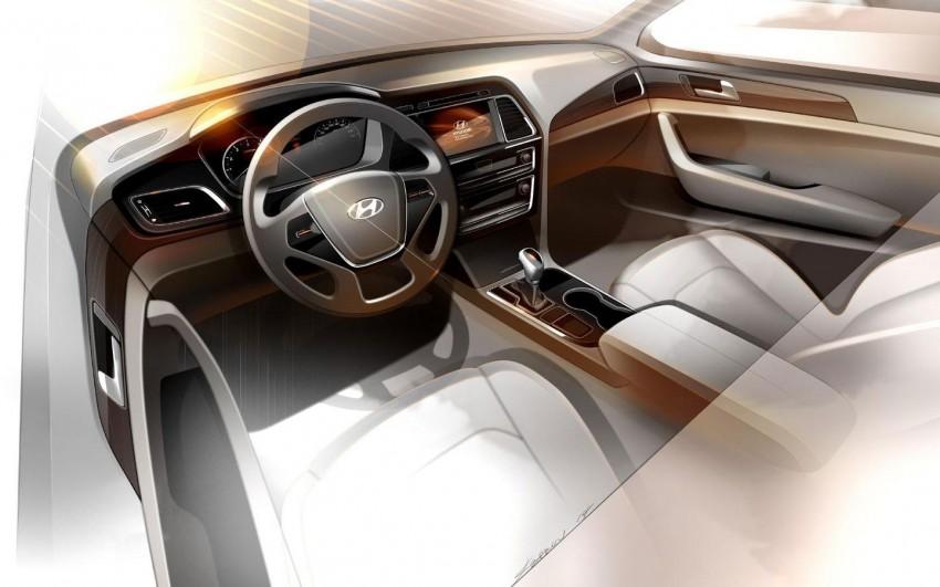 Next-generation Hyundai Sonata's cabin previewed Image #233623