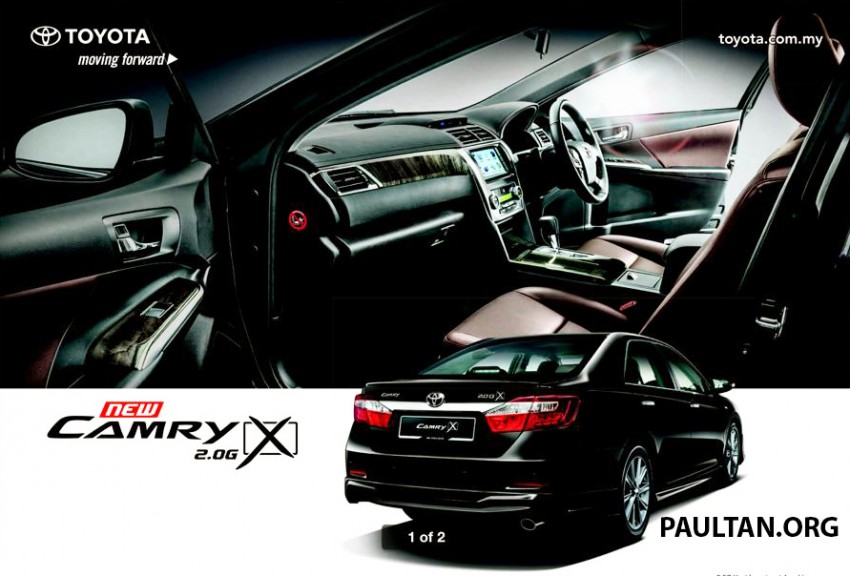 Toyota camry 2 0 g x brochure revealed image 236844