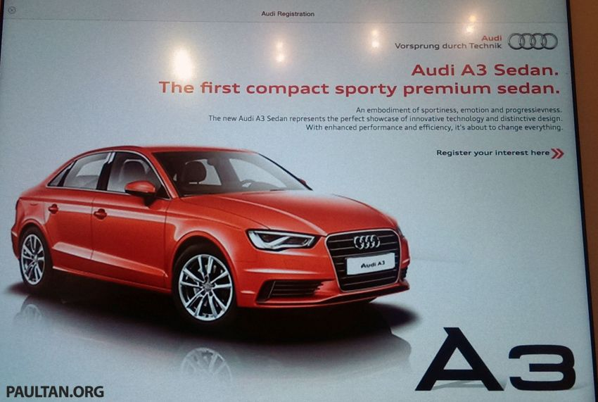 Audi A3 Sedan and A8 Facelift to launch in Malaysia Image #239444