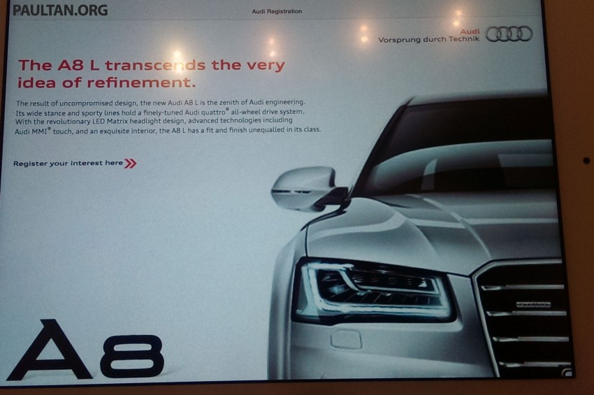 Audi A3 Sedan and A8 Facelift to launch in Malaysia Image #239443