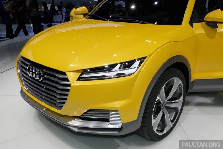 Beijing 2014: Audi TT Offroad Concept is a tallboy TT Image #243110