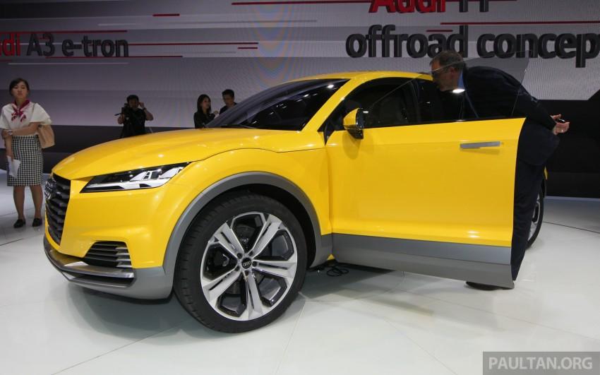 Beijing 2014: Audi TT Offroad Concept is a tallboy TT Image #243114
