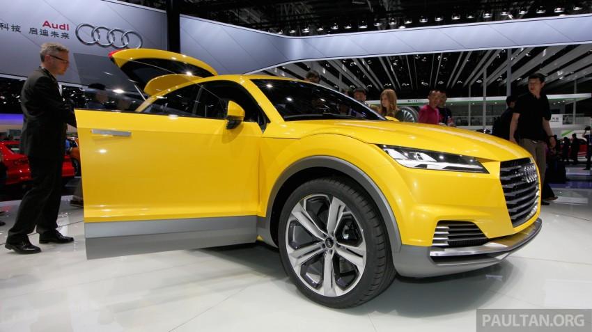 Beijing 2014: Audi TT Offroad Concept is a tallboy TT Image #243104
