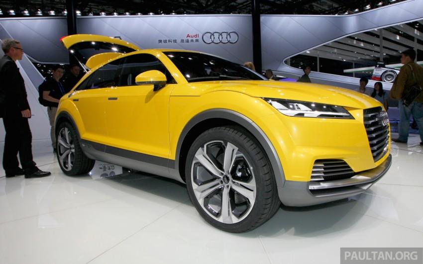 Beijing 2014: Audi TT Offroad Concept is a tallboy TT Image #243105