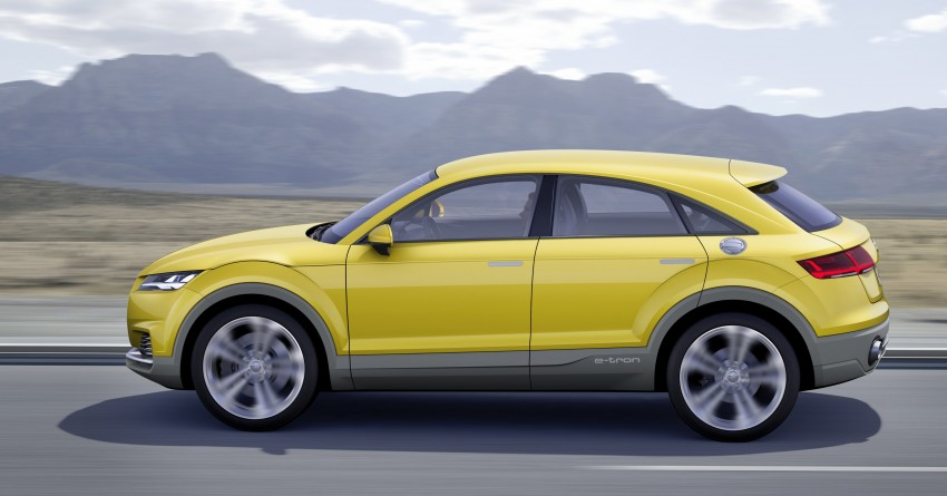 Back to Story: Audi TT Offroad Concept previews future Q4 'TT SUV'