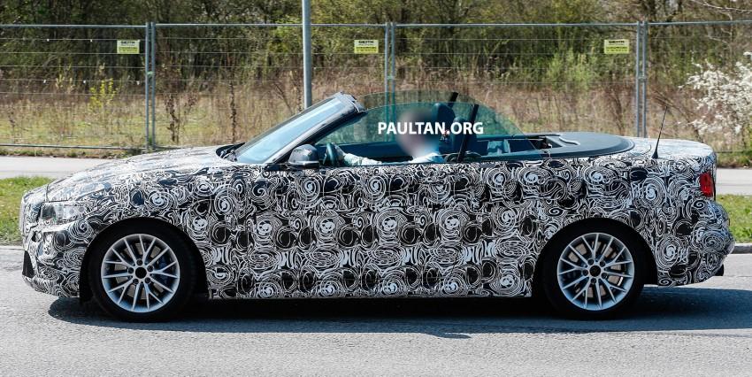 SPYSHOTS: BMW 2 Series Convertible caught testing Image #239836