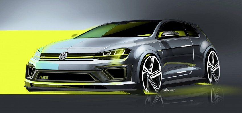 Volkswagen Golf R 400 Concept premieres in China Image #242635