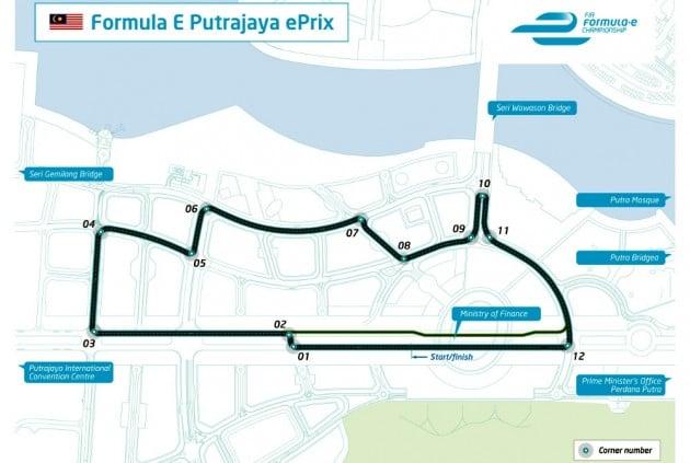 Formula E Putrajaya circuit layout