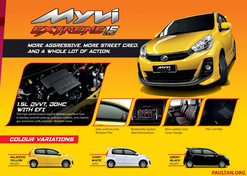 Perodua Myvi XT, new Extreme launched: from RM42k Image #240305