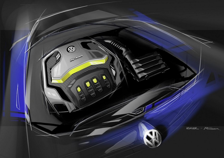 Volkswagen Golf R 400 concept teased, Beijing-bound Image #242287