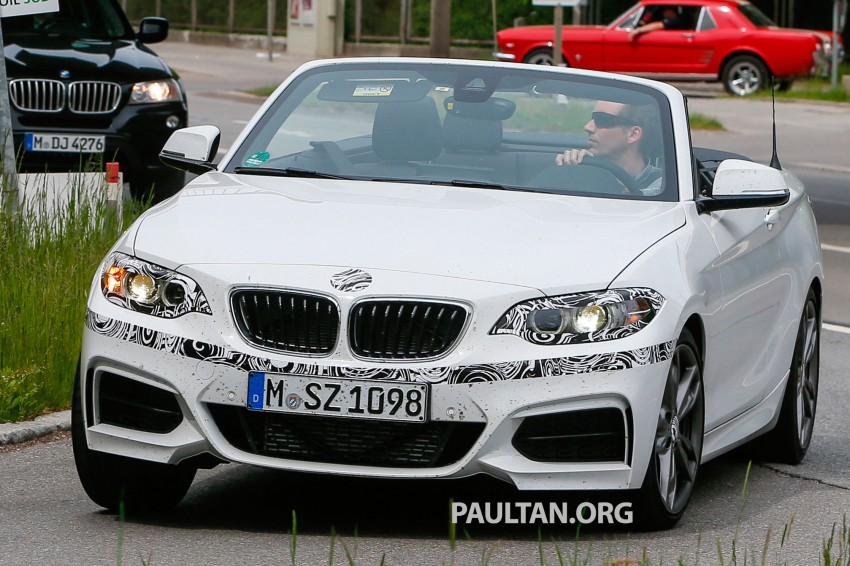 BMW 2-Series Cabriolet spied nearly undisguised Image #246467